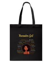 NOVEMBER GIRL Tote Bag thumbnail