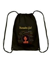 NOVEMBER GIRL Drawstring Bag thumbnail