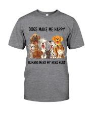 Dogs Make Me Happy Humans Make My Head Hurt Classic T-Shirt thumbnail