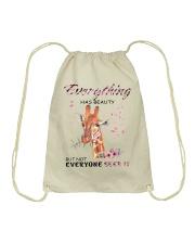 EVERYTHING HAS BEAUTY Drawstring Bag thumbnail