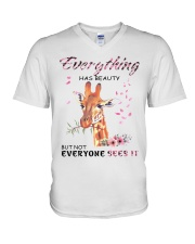 EVERYTHING HAS BEAUTY V-Neck T-Shirt thumbnail
