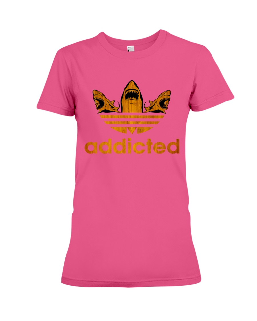 ADDICTED TO SHARK Premium Fit Ladies Tee
