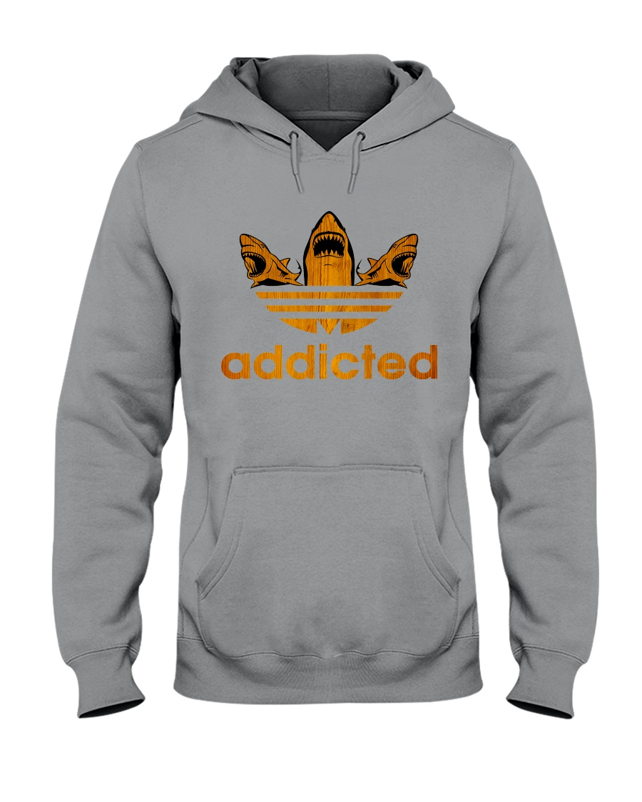 ADDICTED TO SHARK Hooded Sweatshirt showcase