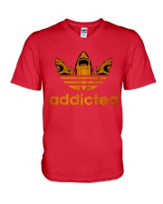 ADDICTED TO SHARK V-Neck T-Shirt front