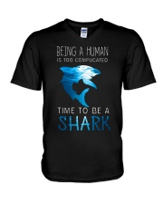 BE A SHARK V-Neck T-Shirt thumbnail