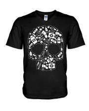 SKULL NURSE V-Neck T-Shirt thumbnail