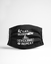 eat sleep cycling repeat mask Cloth Face Mask - 3 Pack aos-face-mask-lifestyle-22