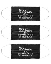 eat sleep cycling repeat mask Cloth Face Mask - 3 Pack front