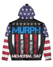 Memorial Day Men's All Over Print Hoodie back