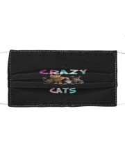 crazy cats mask Cloth face mask front