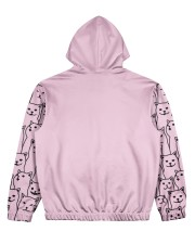 Cat All Over Print Hoodie Women's All Over Print Hoodie back