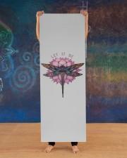 Dragonfly lotus Let it be Yoga Yoga Mat 24x70 (vertical) aos-yoga-mat-lifestyle-13
