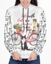 LIFE WITH CATS IS A BEAUTIFUL RIDE Women's All Over Print Hoodie aos-complex-women-hoodie-lifestyle-front-03