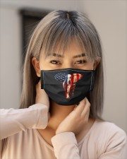 july 4th usa american flag african elephant mask Cloth Face Mask - 3 Pack aos-face-mask-lifestyle-18
