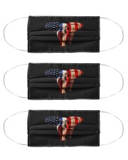 july 4th usa american flag african elephant mask Cloth Face Mask - 3 Pack front