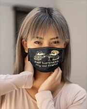 teddy the dog hell barkness my old frie mask Cloth Face Mask - 3 Pack aos-face-mask-lifestyle-18