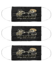 teddy the dog hell barkness my old frie mask Cloth Face Mask - 3 Pack front