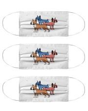 boxer dog flag t mask Cloth Face Mask - 3 Pack front