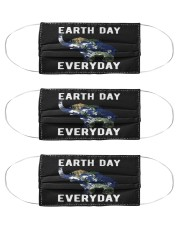 earth day every day elephant earth symbol e mask Cloth Face Mask - 3 Pack front