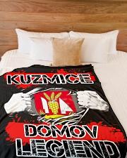 """blanket-Kuzmice lesk Large Fleece Blanket - 60"""" x 80"""" aos-coral-fleece-blanket-60x80-lifestyle-front-02"""