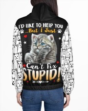 Cats Loves In Striped Women's All Over Print Hoodie aos-complex-women-hoodie-lifestyle-back-01