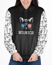 Cats Loves In Striped Women's All Over Print Hoodie aos-complex-women-hoodie-lifestyle-front-03