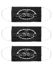 cyclist cycling bike sport mask Cloth Face Mask - 3 Pack front