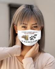 a man cannot survive on beer alone he also mask Cloth Face Mask - 3 Pack aos-face-mask-lifestyle-18
