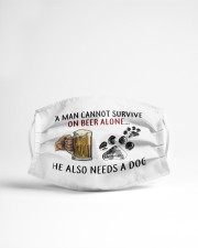 a man cannot survive on beer alone he also mask Cloth Face Mask - 3 Pack aos-face-mask-lifestyle-22