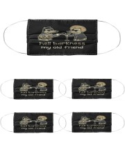 teddy the dog hell barkness my old friend s mask Cloth Face Mask - 5 Pack front