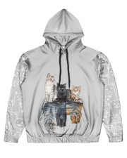 nanacat undefined Men's All Over Print Hoodie tile
