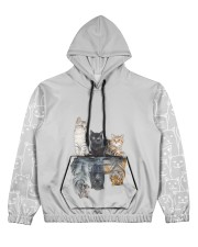 nanacat undefined Women's All Over Print Hoodie tile