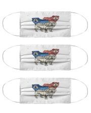 bulldog flag t mask Cloth Face Mask - 3 Pack front