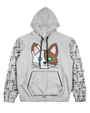 cat eng wom just 06 Women's All Over Print Hoodie tile
