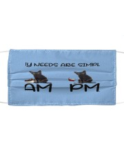 my cats are simple mask Cloth face mask front