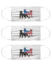 doberman dog flag t mask Cloth Face Mask - 3 Pack front