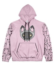 cat eng wom just 10 Women's All Over Print Hoodie front