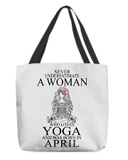 yoga woman v2 04 All-over Tote front