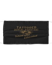 tattooed dental assistant inked and educate mask Cloth face mask front