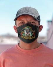retro vintage best pug rap dads ever dog da mask Cloth Face Mask - 5 Pack aos-face-mask-lifestyle-06