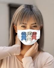 beagle dog flag t mask Cloth Face Mask - 3 Pack aos-face-mask-lifestyle-18