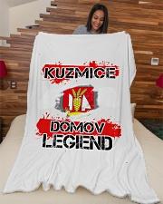 """blanket-Kuzmice lesk Large Fleece Blanket - 60"""" x 80"""" aos-coral-fleece-blanket-60x80-lifestyle-front-04"""