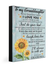 to my grandma canvas 11x14 Gallery Wrapped Canvas Prints front