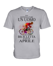 Bicycle Man Italian 06 V-Neck T-Shirt tile