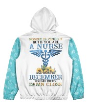 nurse eng perfect 12 Women's All Over Print Hoodie back