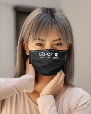 peace love yorkshire terrier dog loves shir mask Cloth Face Mask - 5 Pack aos-face-mask-lifestyle-18