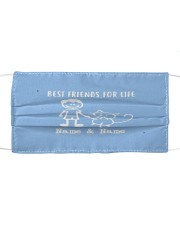 best friends for life name and name boy and mask Cloth face mask front