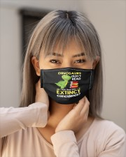 reading dinosaurs extinct mask Cloth Face Mask - 3 Pack aos-face-mask-lifestyle-18