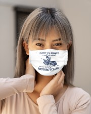 life is short call in side and go motorcycl mask Cloth Face Mask - 3 Pack aos-face-mask-lifestyle-18