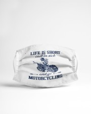 life is short call in side and go motorcycl mask Cloth Face Mask - 3 Pack aos-face-mask-lifestyle-22